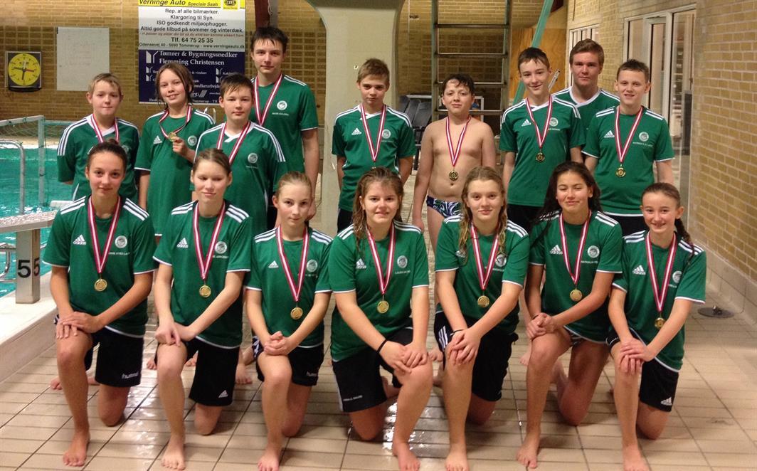 U13 vinder SRV i vandpolo holdbillede